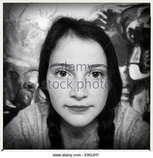 Girl looking at camera - Stock Image