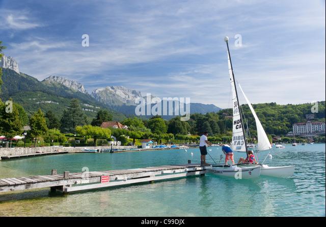 Hobie cat sailing