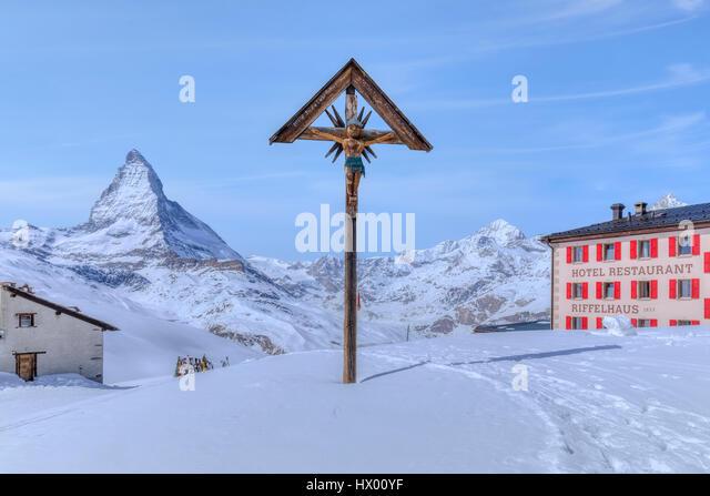 Riffelberg, Matterhorn, Zermatt, Gornergrat, Valais, Switzerland, Europe - Stock-Bilder