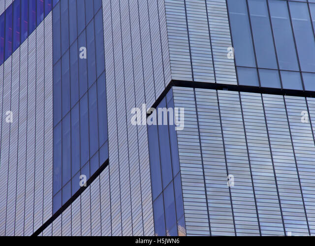 Modern glass building in New York City, USA - Stock Image