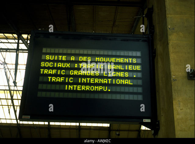 how to handle a french train strike
