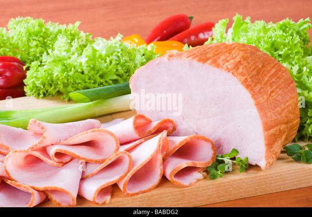 Smoked ham - Stock Image
