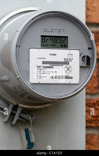 Electric Meter On House : Smart meter stock photos images alamy