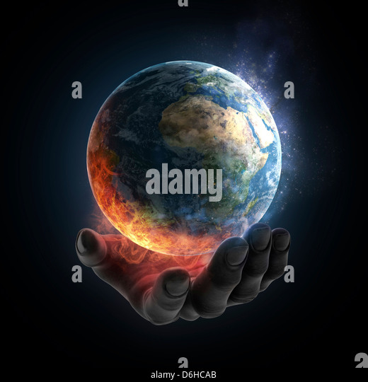 Environmental destruction, artwork - Stock Image