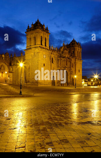 Cusco Cathedral (Nuestra Sra. de la Asuncion), Cusco, Peru - Stock-Bilder