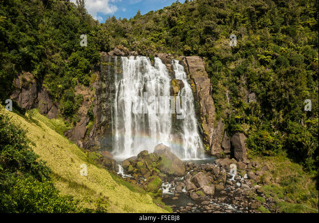 Marokopa Falls, Waitomo karst, North Island, New Zealand, Pacific - Stock Image