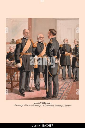 General, Major-General & Officers General Staff - Stock Image