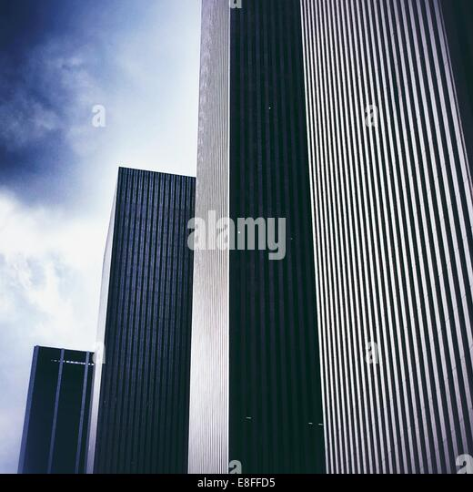 Rows of skyscrapers, Rockefeller Center, Manhattan, America, USA - Stock Image
