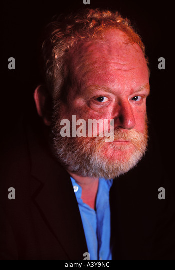 THE WRITER FRANK MCGUINNESS AT THE SWAN THEATRE RSC STRATFORD UPON AVON UK - Stock Image