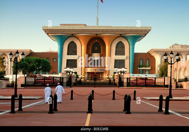 Oman Muscat Sultans Palace - Stock Image