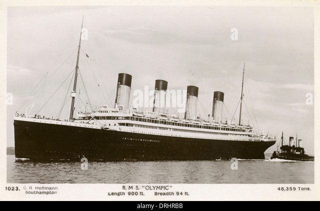 The RMS Olympic - White Star Line - Stock Image