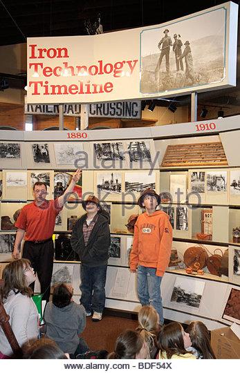 Michigan Upper Peninsula U.P. UP Lake Superior Negaunee Michigan Iron Industry Museum heritage education student - Stock Image