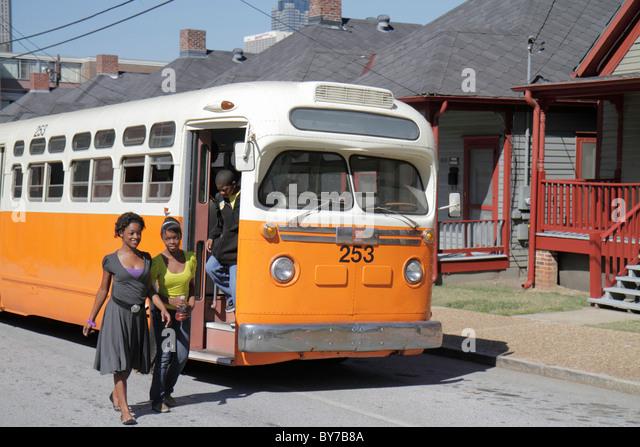 Atlanta Georgia Auburn Avenue Martin Luther King Jr. NHS National Historic Site history civil rights movement segregation - Stock Image