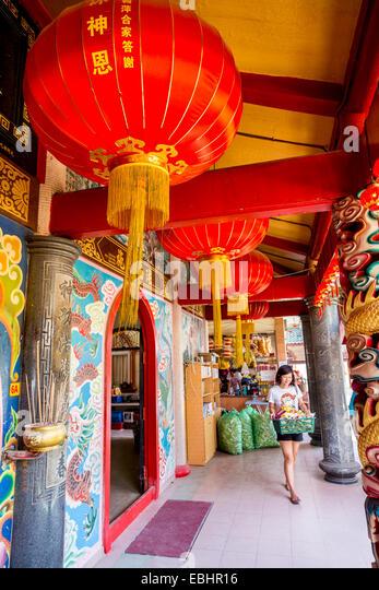 Tua Pek Kong Chinese Temple, Miri, Sarawak, Malaysia - Stock Image