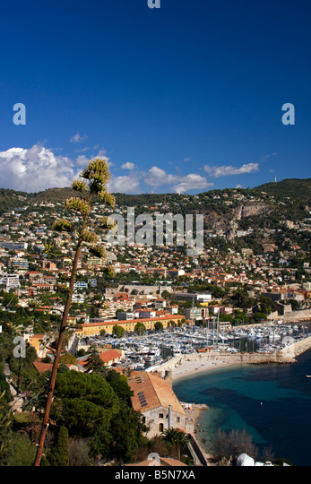 South France Cote d Azur Villefranche sur mer yachting port - Stock Image