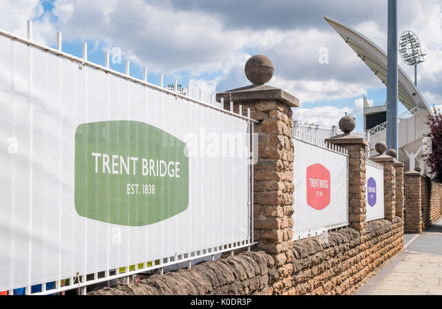 Trent Bridge Cricket Ground, Nottinghamshire County Cricket Club, West Bridgford, Nottinghamshire, England, UK - Stock Image