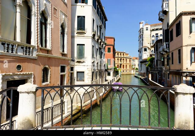 The Canals of Venice Italy - Stock Image