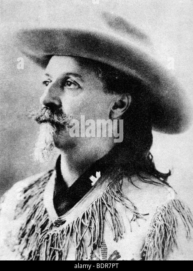 Colonel William F 'Buffalo Bill' Cody, late 19th or early 20th century (1954). - Stock Image