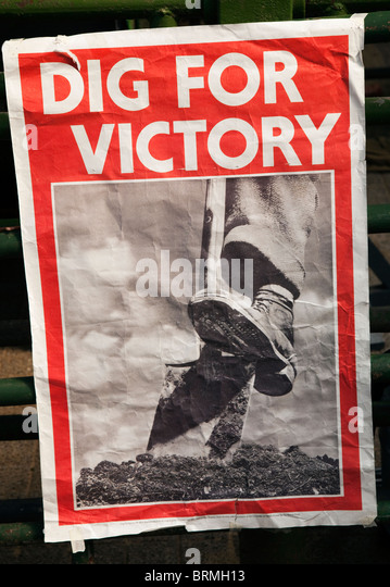 British Second World War Dig for Victory poster UK - Stock Image