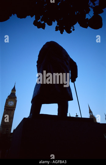Winston Churchill statue - Stock Image