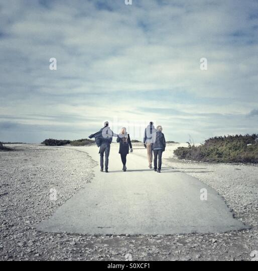People on Fårö Gotland Sweden - Stock Image