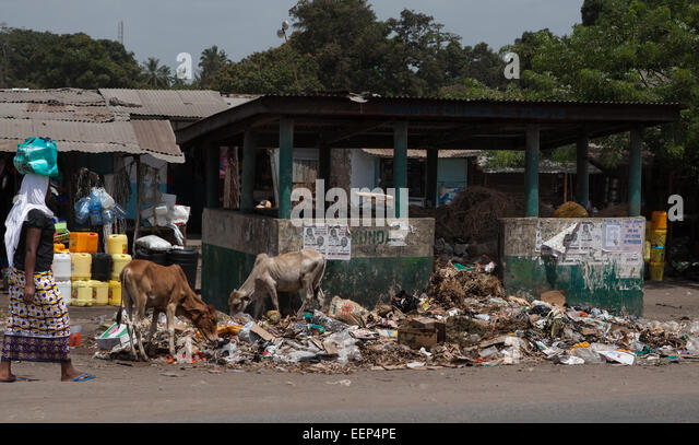 Africa reportage rubbish people evolution devolution - Stock Image