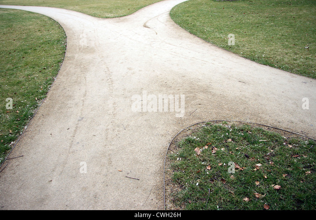 crossroad,direction,decisions,forked road - Stock Image