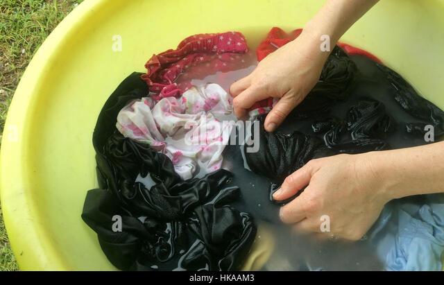 Hand Washing Clothes Stock Photos & Hand Washing Clothes ...