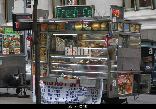 Food truck in New York City - Stock Image