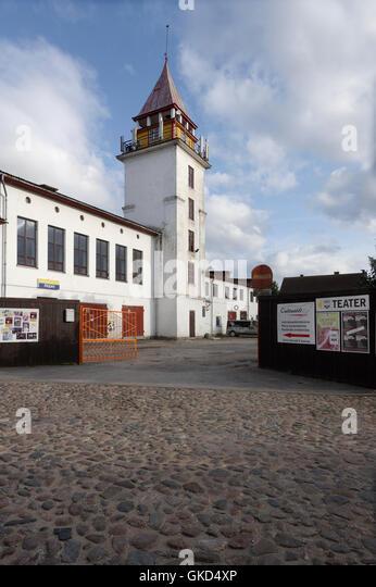 Old Fire House In Väike-Turu 1b. Viljandi. Estonia - Stock Image