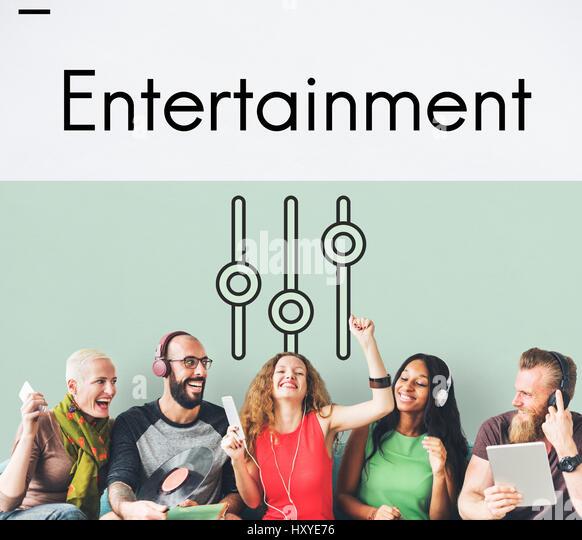 Music Streaming Media Entertainment Equalizer - Stock-Bilder