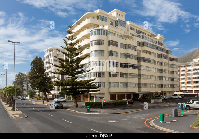 South Africa, Cape Town, Sea Point. Apartment Buildings. - Stock Image