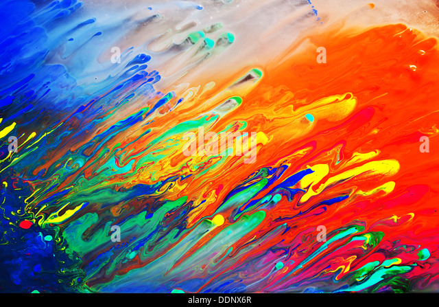 Bright abstract painting background close up - Stock Image