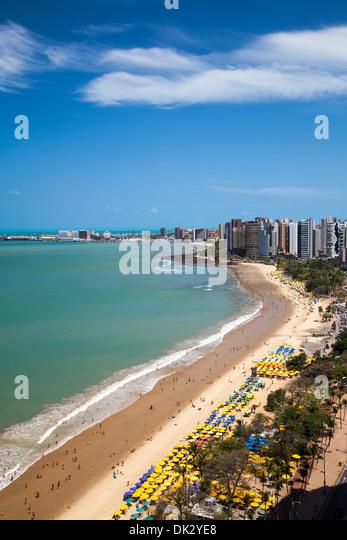 Skyline view over Fortaleza, Brazil. - Stock Image