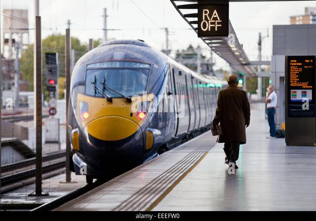 Class 395 Southeastern high speed train at the platform at St. Pancras International - Stock Image