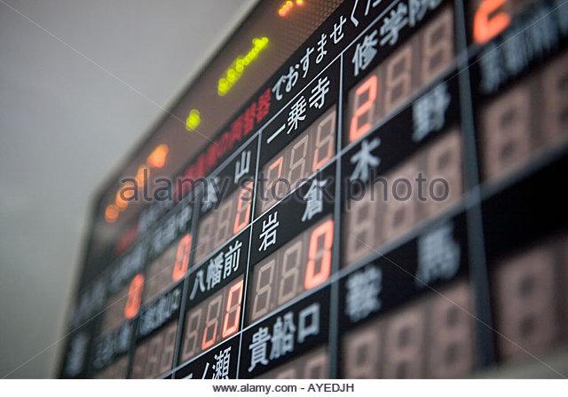 Price display board on a train - Stock Image
