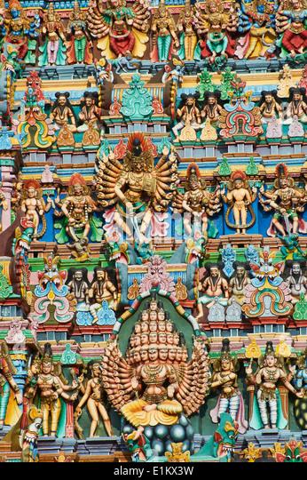 India, Tamil Nadu, Madurai, Sri Meenakshi temple - Stock-Bilder