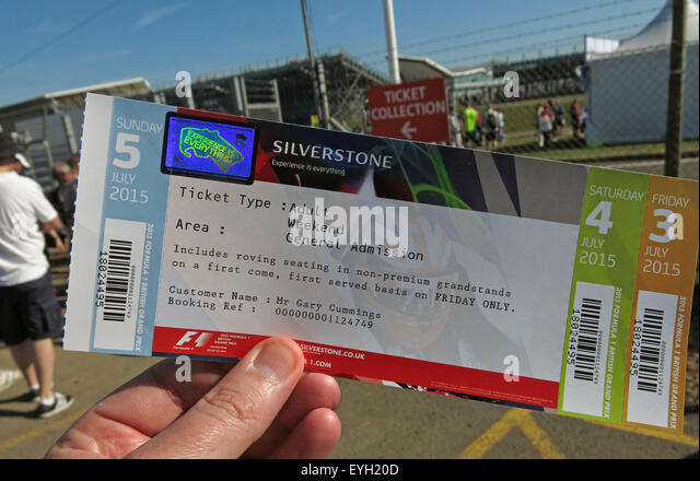 3day Ticket for Silverstone F1 British Grand Prix GP England - Stock Image