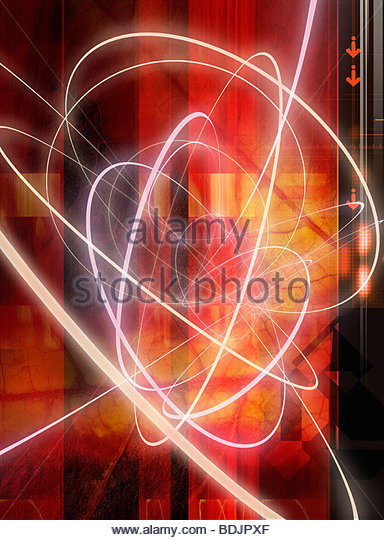 Abstract leaf and light design - Stock Image