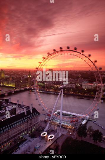 London Eye, London, England - Stock Image