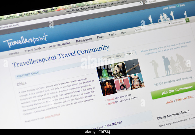 Travellerspoint hotel review and travel blogs website - Stock-Bilder