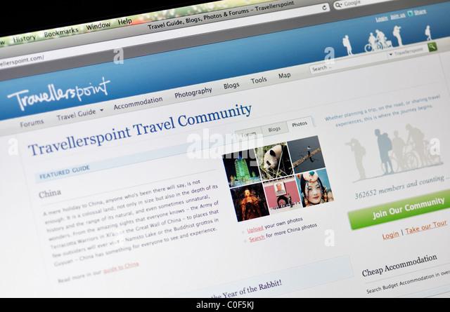 Travellerspoint hotel review and travel blogs website - Stock-Bilder