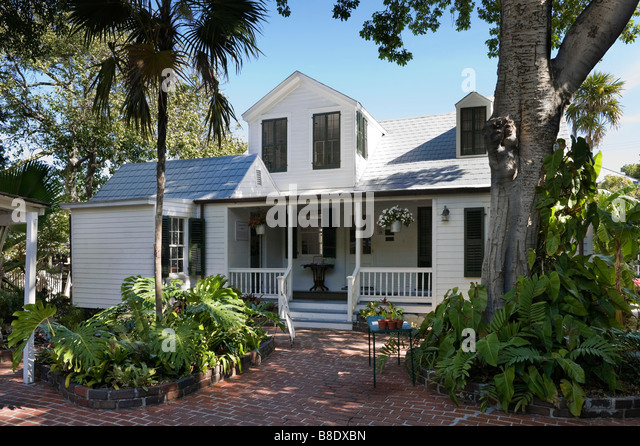 The oldest house in Key West dating from around 1829, Duval Street, Key West, Florida Keys, USA - Stock-Bilder