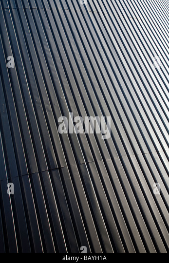 Wall made of corrugated iron sheets ( CGI ) - Stock Image