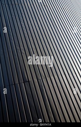 Wall made of corrugated iron sheets ( CGI ) - Stock Image