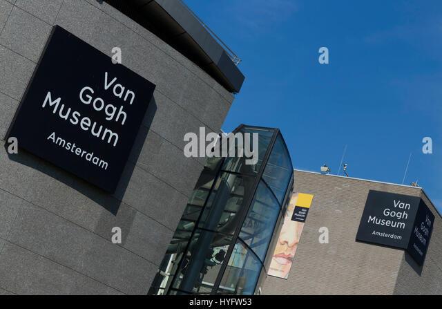 Van Gogh Museum exterior, Amsterdam, Netherlands, Europe - Stock Image