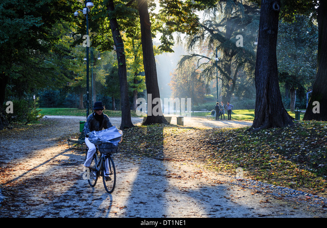 Sempione Park, Milan, Lombardy, Italy, Europe - Stock Image