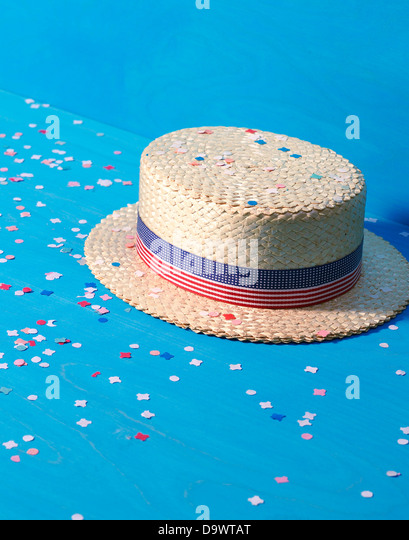 Hat at a parade - Stock Image