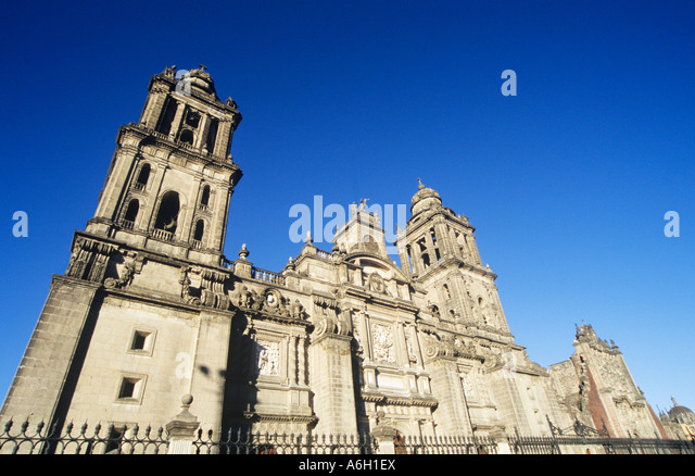 Mexico city cathedral - Stock Image