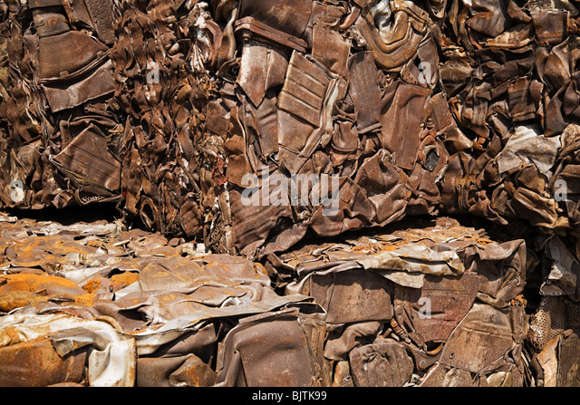 Crushed metal - Stock Image